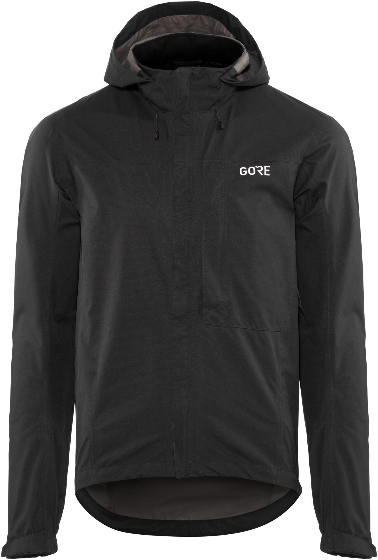 GORE WEAR C3 Gore Tex Paclite Hooded Jacket Herre black